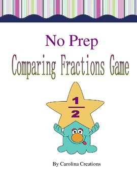 No Prep Comparing Fractions Game