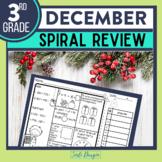 Third Grade Math Homework or 3rd Grade Morning Work for DECEMBER