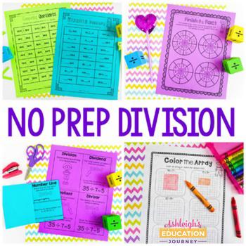 No Prep Division Printables - Fun Activities, Games, and W