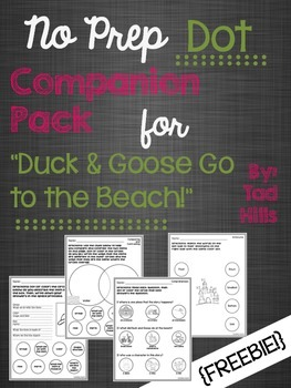 "No Prep Dot Companion Pack for ""Duck & Goose Go to the Beach!"""