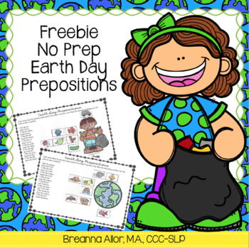 Freebie: No Prep Earth Day Prepositions
