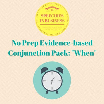 No Prep, Evidence-Based Conjunction Pack: When