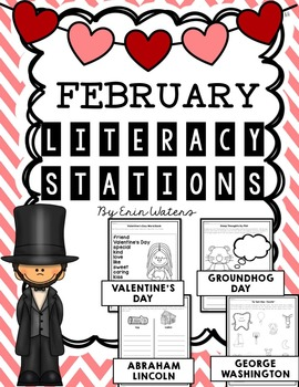 No Prep February Literacy Stations {Valentine's Day, Groun