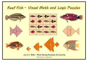 No Prep Fish Pack  - Visual Math and Puzzles for Middle Primary