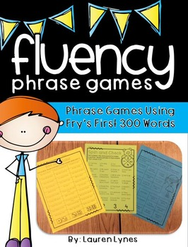 No Prep Fluency Phrase Games {Fry's First 300 Words}