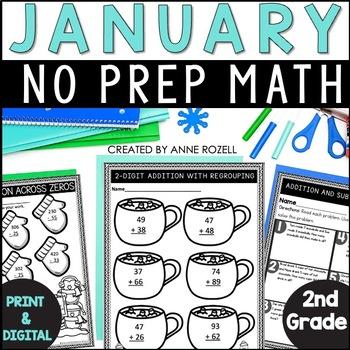 No Prep! Grade 2! Math for January!