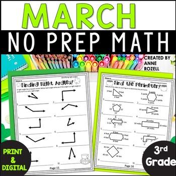 No Prep! Grade 3! Math for March!