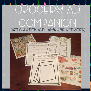 No-Prep Grocery Ad Companion for Speech Therapy