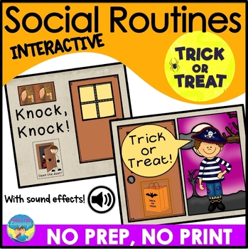 Halloween No Prep Interactive Book- Spec Ed, Speech Therap