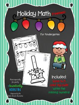 No Prep Holiday Math Freebies