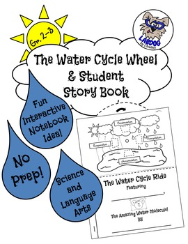Water Cycle Wheel and Student Story Book- No Prep & For In