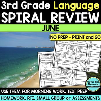 3RD GRADE Homework Morning Work for LANGUAGE & GRAMMAR - J