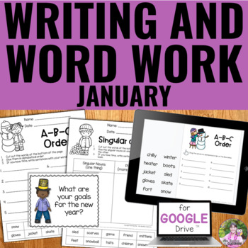 NO PREP January Writing and Word Work Package