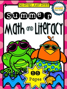 No Prep, Just Print! Summer Literacy & Math Bundle Grade 1