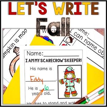 No Prep! Kindergarten Fall Writing - Journal - Writing Wor