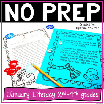 No Prep LITERACY Centers for January {2nd - 4th Grade}