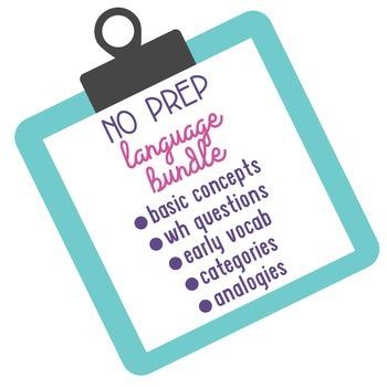 No Prep Language Bundle! 262 Pages of Questions, Categorie