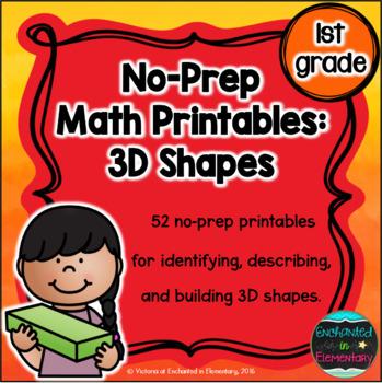 No Prep Math Printables: 3D Shapes