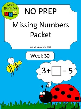 No Prep - Missing Addends