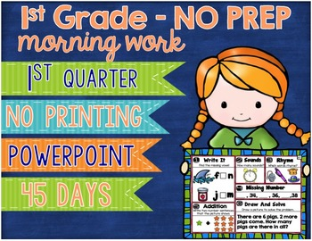 No Prep Morning Work Powerpoint First Quarter 1st Grade