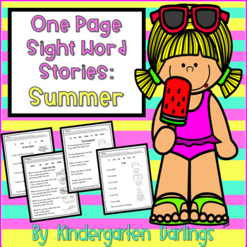 No Prep: One Page Easy Reader Sight Word Stories