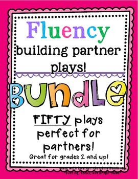 No Prep Partner Fluency Plays- FIFTY plays BUNDLE!!!! 2nd
