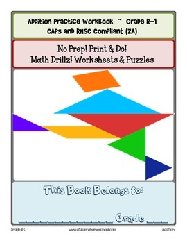 No Prep! Print & Do Grade 0-1 Addition Worksheets & Puzzles