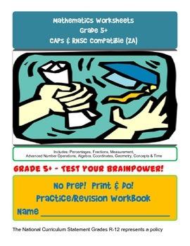 No Prep! Print & Do! Grade 5+ Advanced Math Practice Workb