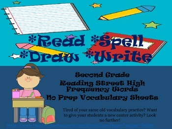 No Prep Read Spell Draw Write Vocabulary Activity