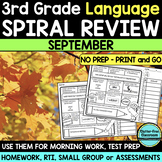 3RD GRADE Homework Morning Work for LANGUAGE & GRAMMAR - S