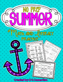 No Prep SUMMER Math and Literacy Practice