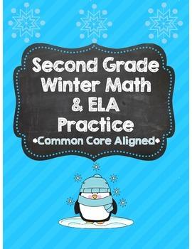 *No Prep* Second Grade Common Core Winter Math & ELA  Packet