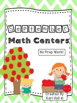 No Prep September Math Centers!