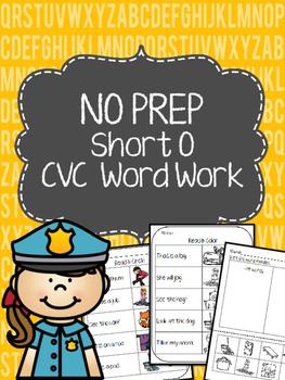 No Prep Short O Word Work