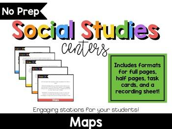 No Prep Social Studies Centers: Maps & Globes