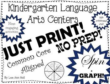 No Prep Spin and Graph Language Arts Centers