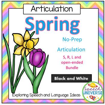 No-Prep Spring Articulation Worksheet Bundle