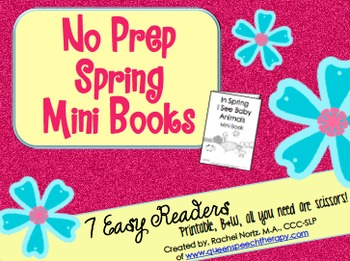 No Prep Spring Mini Books {Easy Readers}