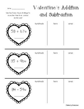No Prep: St. Patrick's Day Addition / Subtraction (2 / 3 D