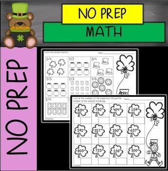 St. Patrick's Day No Prep Math Printables