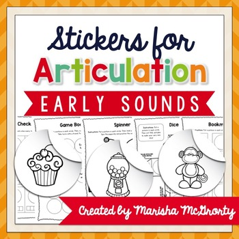 Interactive Articulation Stickers {Early Sounds}