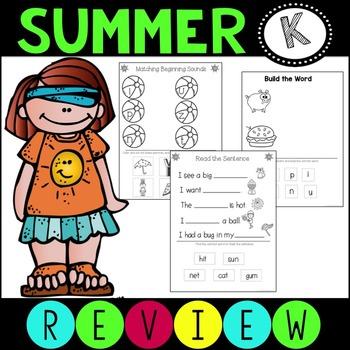 #hellosummer Summer Review Packet ELA Language Arts Kindergarten
