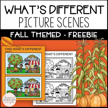 No Prep What's Different? Fall Themed for Speech and Langu