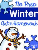 No Prep Winter Articulation Homework