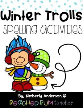 No Prep Winter Trolls Word Work Activities - Word Study /