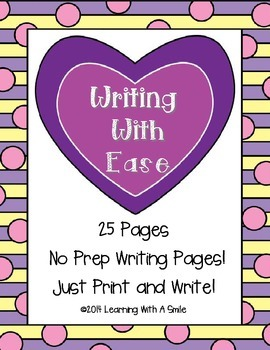 Writing With Ease No Prep Writing with Word Bank - Great W