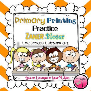 No Prep! ~Zaner-Bloser~ {Ball and Stick} Lowercase Primary