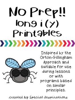 No Prep! y as in my Printables Orton-Gillingham Inspired