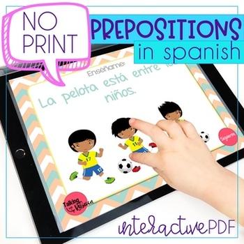 No Print Aprendemos Preposiciones