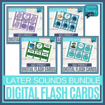 No Print Articulation Flash Cards - Later Sounds Bundle
